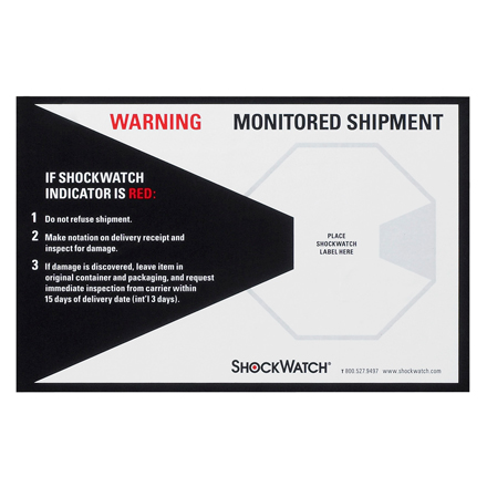 ShockWatch<span class='rtm'>®</span> Companion Labels